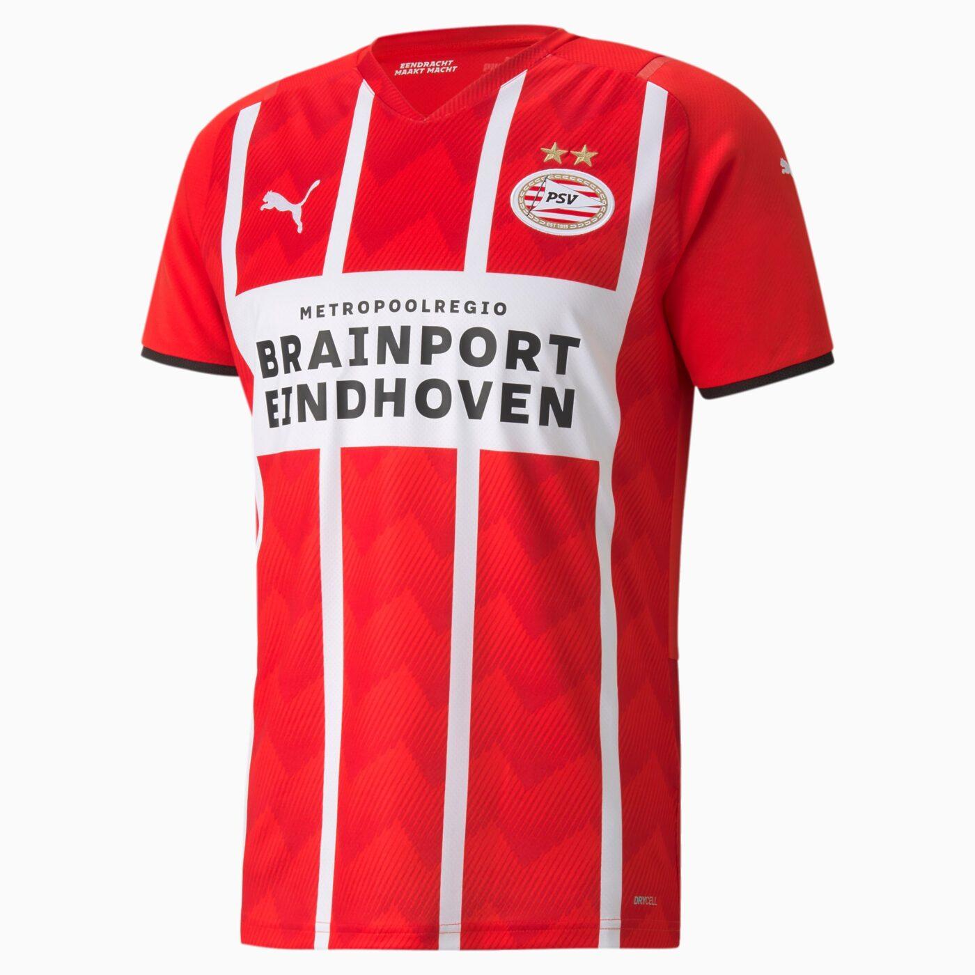 Maillot PSV Eindhoven 2021-2022 domicile