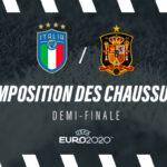 La composition de Italie-Espagne en crampons – 1/2 finale Euro 2020