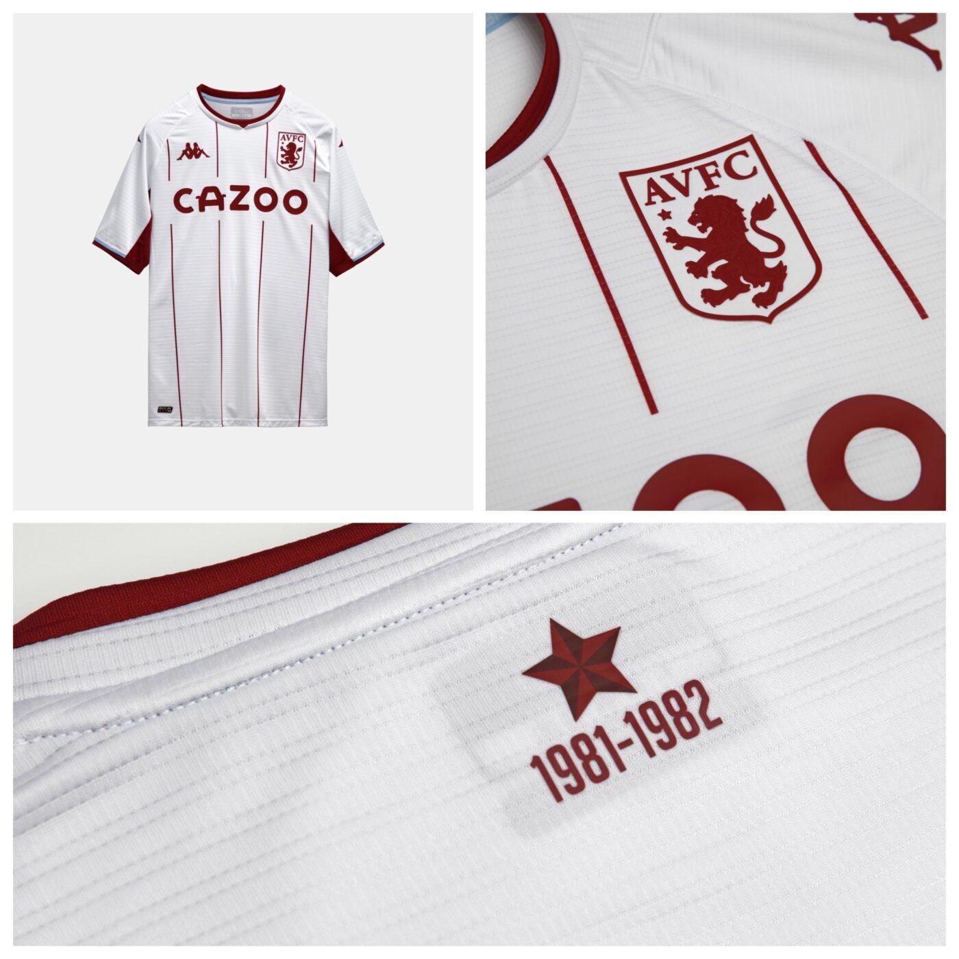 Maillot Aston Villa 2021-2022 exterieur Kappa