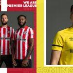 Les maillots de Brentford 2021-2022 dévoilés par Umbro