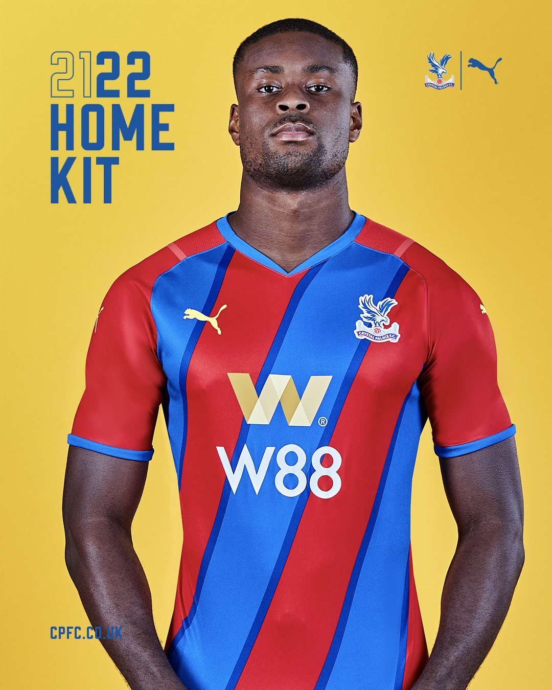 Maillot Crystal Palace 2021-2022 domicile