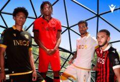 Image de l'article Les maillots de Nice 2021-2022 dévoilés par Macron