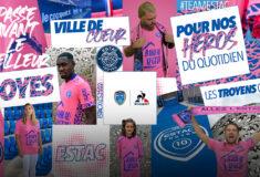 Image de l'article Du rose pour le maillot third de l'ESTAC 2021-2022