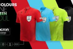 Image de l'article Macron dévoile les nouveaux maillots des arbitres UEFA