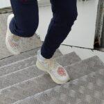 Une sneakers New Balance x Stone Island aux pieds de Raheem Sterling